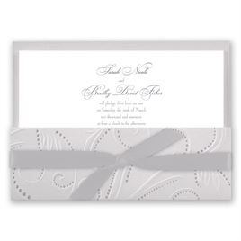 Elegant Wedding Invitations: Silver Pearls Invitation
