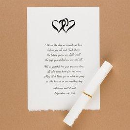 Invitation Ribbons and Embellishments: White Vellum Deckle Edge Scrolls