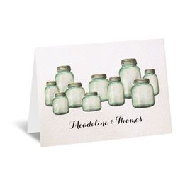 Rustic Thank You Cards: Country Canning Jar Thank You Card