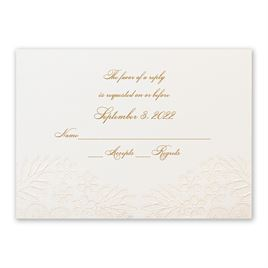Wedding Response Cards: Lace and Luxury Response Card and Envelope