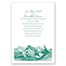 Watercolor Mountain - Invitation