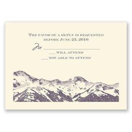Wedding Response Cards: Watercolor Mountain - Response Card