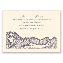 Watercolor Mountain - Ecru - Reception Card