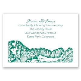 Watercolor Mountain - Reception Card
