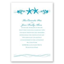 Sweet Starfish - Invitation