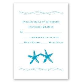 Sweet Starfish - Response Card and Envelope