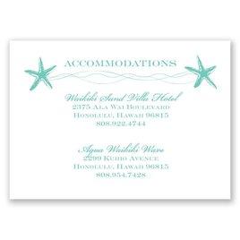 Sweet Starfish - Accommodations Card