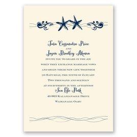 Wedding Invitations: Sweet Starfish - Invitation