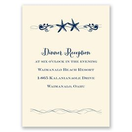 Sweet Starfish - Ecru - Reception Card