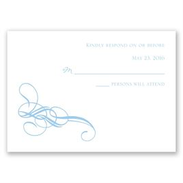 Fancy Flourishes - Response Card and Envelope
