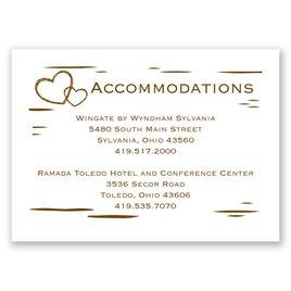 Birch Bark Heart - Accommodations Card