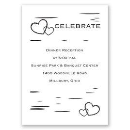 Birch Bark Heart - Reception Card