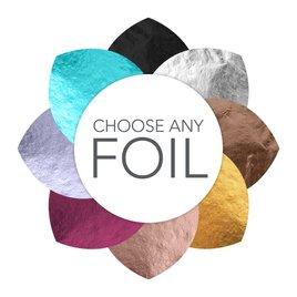 Forever Flourish - Black Shimmer - Foil Invitation