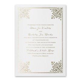 Forever Flourish - White Shimmer - Foil Invitation