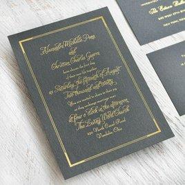 Looking Sharp - Black Shimmer - Foil Invitation