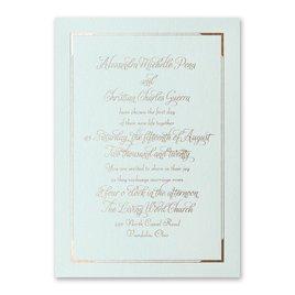 Looking Sharp - Mist Shimmer - Foil Invitation