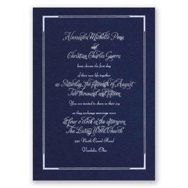 Looking Sharp - Navy - Foil Invitation
