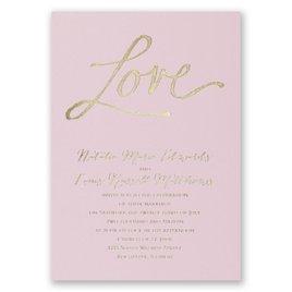 Pure Love - Pink - Foil Invitation