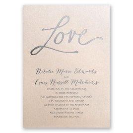 Pure Love - Blush Shimmer - Foil Invitation