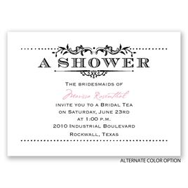 Vintage Celebration - Mini Wedding Shower Invitation