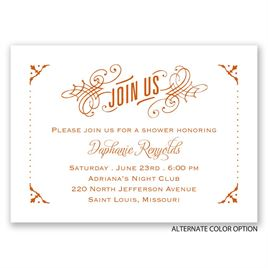 True Art - Mini Wedding Shower Invitation