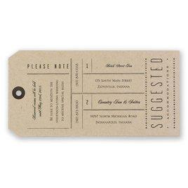 Just the Ticket - Invitation