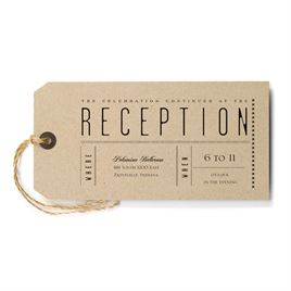 Wedding Reception and Information Cards: Just the Ticket Reception Card