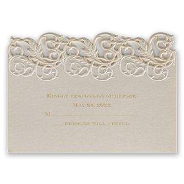 Wedding Response Cards: Vintage Escape Laser Cut Response Card