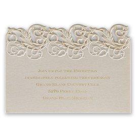 Wedding Reception and Information Cards: Vintage Escape Laser Cut Reception Card