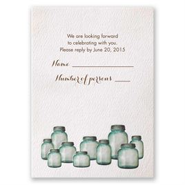 Wedding Response Cards: Country Canning Jar Response Card