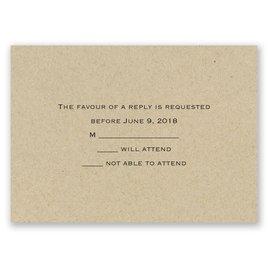 Wedding Response Cards: Kraft Response Card