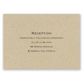 Wedding Reception and Information Cards: Kraft Reception Card