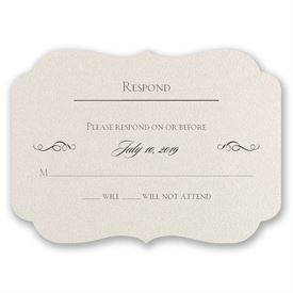 Wedding Response Cards: Contoured Elegance Response Card