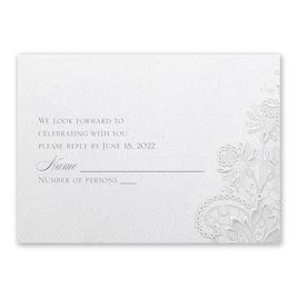 Wedding Response Cards: Exquisite Response Card and Envelope