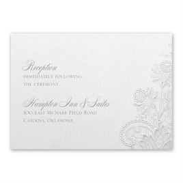 Wedding Reception and Information Cards: Exquisite Reception Card