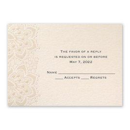 Wedding Response Cards: Mandala Lace Response Card and Envelope