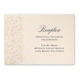 Wedding Reception and Information Cards: Mandala Lace Reception Card