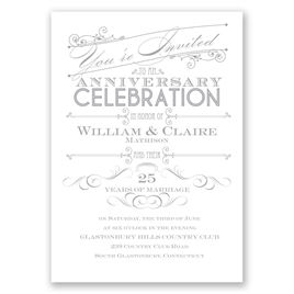 """Anniversary Party Invitations: Let""""s Celebrate Anniversary Invitation"""