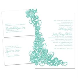 Lacy Details - 3 for 1 Invitation