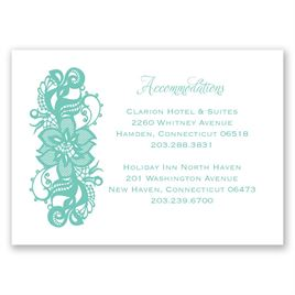 Lacy Details - Accommodations Card