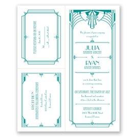 Art Deco Arch - 3 for 1 Invitation