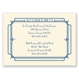 Art Deco Arch - Ecru - Accommodations Card