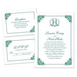 3 for 1 Wedding Invitations: Elegant Finish - 3 for 1 Invitation