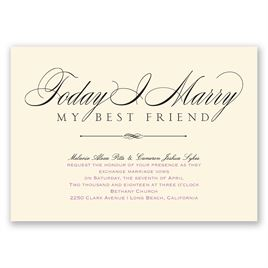 Love & Friendship - Ecru - Invitation
