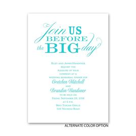 Join Us - Petite Rehearsal Dinner Invitation