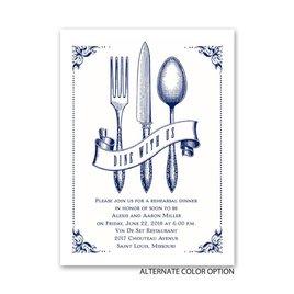 Vintage Silver - Petite Rehearsal Dinner Invitation