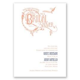 Fabulous Flourish - Bridal Shower Invitation