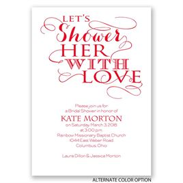 With Love - Bridal Shower Invitation