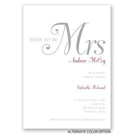 High Class - Bridal Shower Invitation