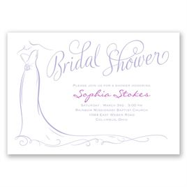 Elegant Bride - Bridal Shower Invitation